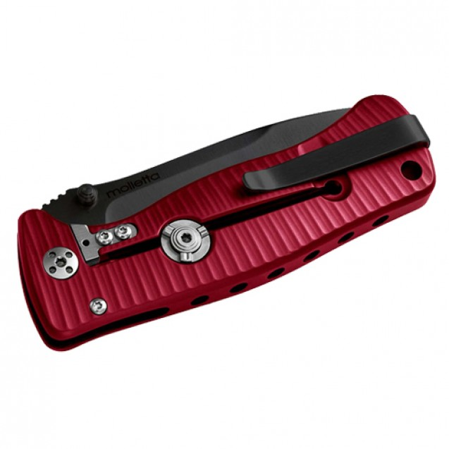 Lionsteel SR2 Aluminium Red Folder Knife - SR2A RB