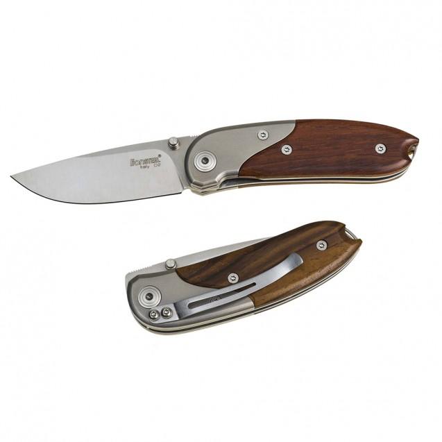 Lionsteel Mini Santos Wood Folder Knife - 8200 ST